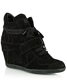 Ash  Black Suede Women�s Wedge High Top