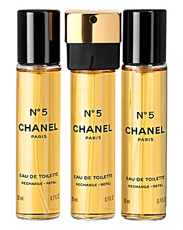 Chanel No5 3x 20ml EDT