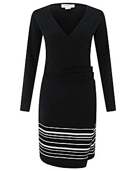 Monsoon Saskia Stripe Wrap Dress