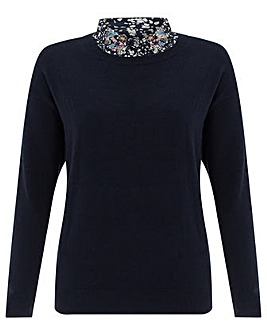 Monsoon Elsie Embroidered Woven  Jumper