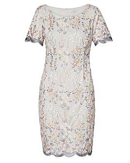 Gina Bacconi Janice Embroidered Dress