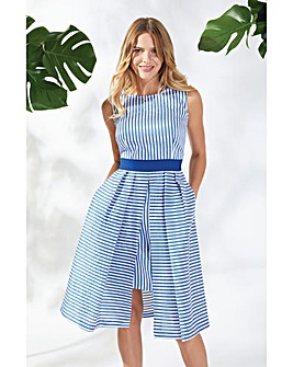 Gina Bacconi Elena Striped Dress