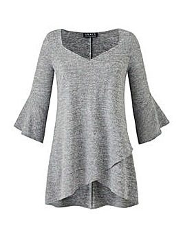 Grace tunic with frill cuff