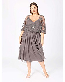 Lovedrobe luxe charcoal batwing dress