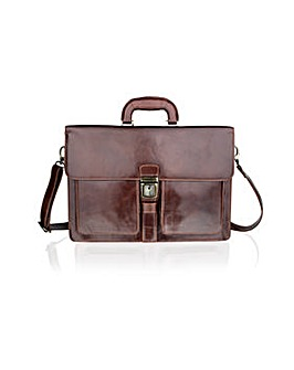 Woodland Single Lock Satchel
