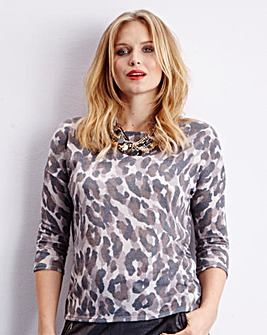 Edit Fine Knit Print Jumper