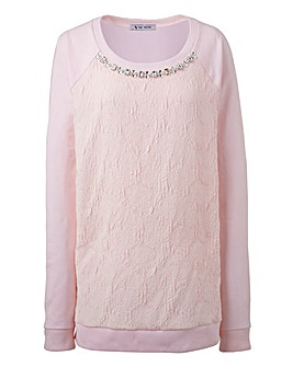 Ava By Mark Heyes Jacquard Sweatshirt