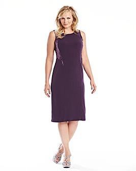 Edit Sequin Illusion Dress