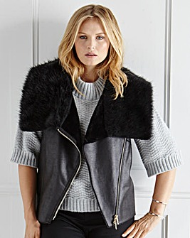 Ava by Mark Heyes Fur Collar Gilet