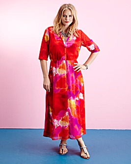 Edit Shirt Maxi Dress