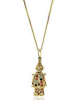 9 Carat Gold Mini Clown Pendant