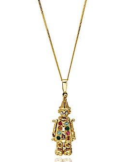 9 Carat Gold Mini Clown Pendant