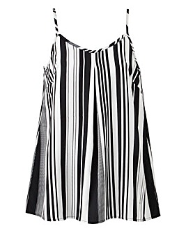 Mono Stripe Strappy Cami Top