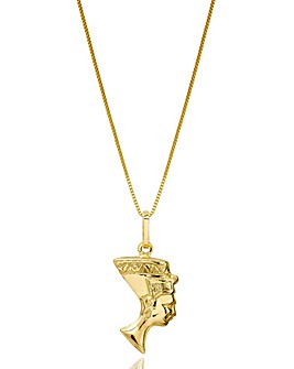 9 Carat Gold Egyptian Queen Pendant