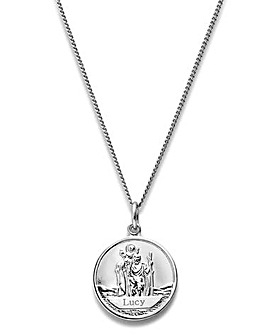 Personalised St Christopher Pendant