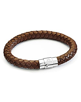 Personalised Gents Leather Bracelet