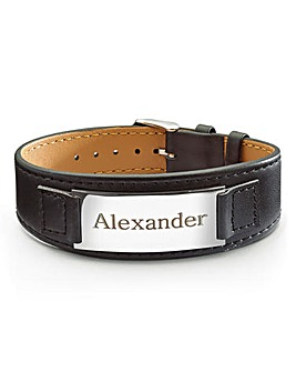Personalised Leather Wrist Strap