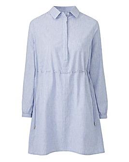 Petite Pale Blue Oversized Shirt