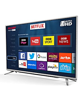 SHARP 55 Inch 4K UHD TV and INSTALL