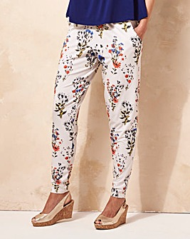 Printed Jersey Harem Trouser Short