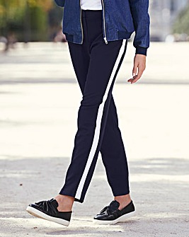 Fashion Ankle Grazer Side Stripe Trouser