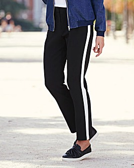 Fashion Ankle Grazer Side Stripe Trouser