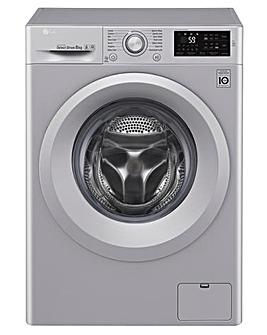 LG 8kg 1400rpm Washing Machine Silver