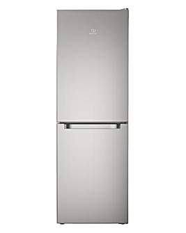 Indesit Combi Fridge Freezer Stainless