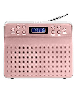 AKAI Portable DAB Radio Rose Gold