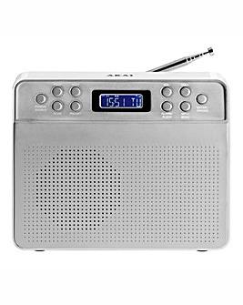 AKAI Portable DAB Radio Silver