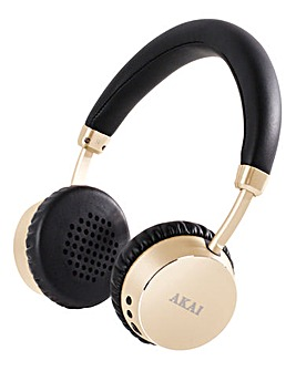 AKAI Bluetooth Headphones Champagne