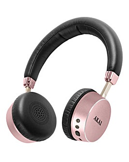 AKAI Bluetooth Headphones Rose Gold