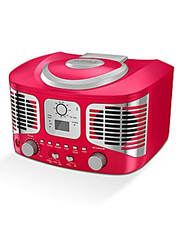 AKAI Retro CD Boombox Red