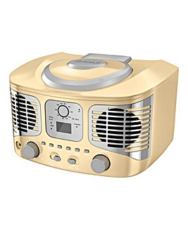 AKAI Retro CD Boombox Cream