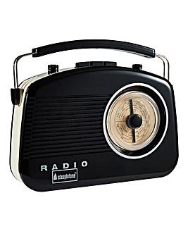 Steepletone Brighton Radio Black