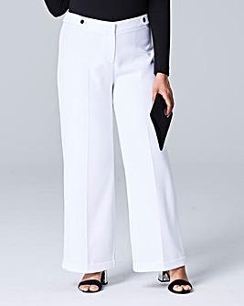 Textured Wide Leg Trousers Regular