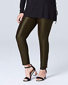 Stretch PU Zip Legging Trousers