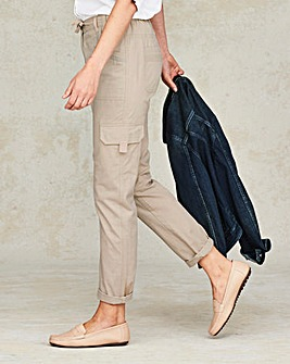 Laundered Cargo Trousers Long