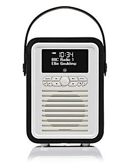 VQ Retro Mini DAB Radio Black