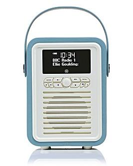 VQ Retro Mini DAB Radio Blue