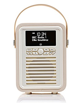 VQ Retro Mini DAB Radio Cream