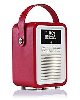 VQ Retro Mini DAB Radio Red