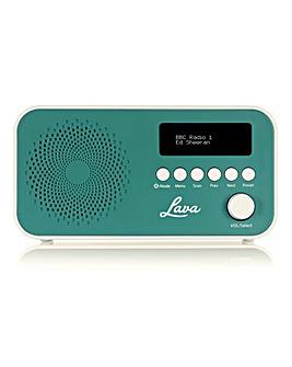 LAVA DAB Radio Teal