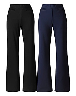 Pack Of 2 Bootcut Trousers Long