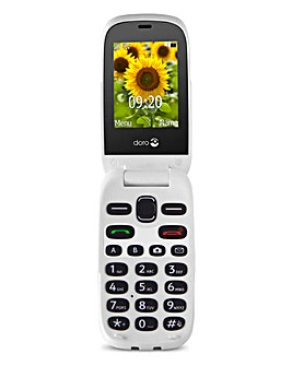 Doro 6030 Graphite/White Flip Phone