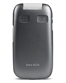 Doro 6520 Graphite/White Flip Phone