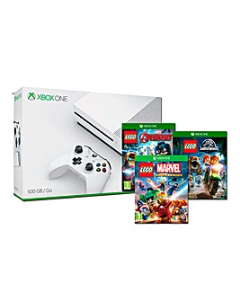 Xbox One S 500gb Console + 3 Lego Games