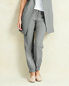 Ruched Ankle Jogger Trouser Short