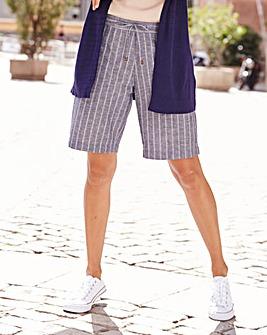 Stripe Linen Mix Shorts