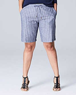 Stripe Linen Mix Shorts